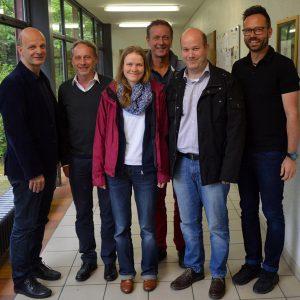 Stefan Zimkeit, Uli Klein, Claudia Lawatsch, Hennes Rother, Thomas Krey und Carsten Kühn.