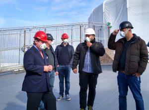 Minister Lutz Lienenkämper, die Abgeordneten Markus Weske und Martin Börschel, Bauleiter Burak Dogan und Stefan Zimkeit MdL